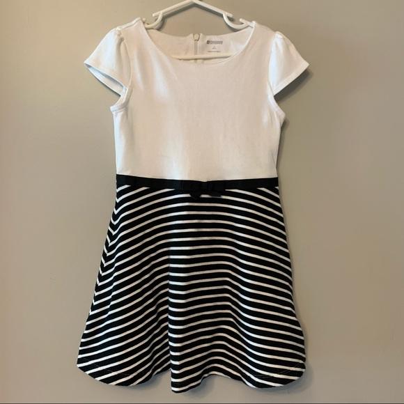 Gymboree Black & White Dress, Size Small 5-6